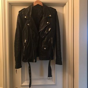 Blk Dnm Black leather jacket size M